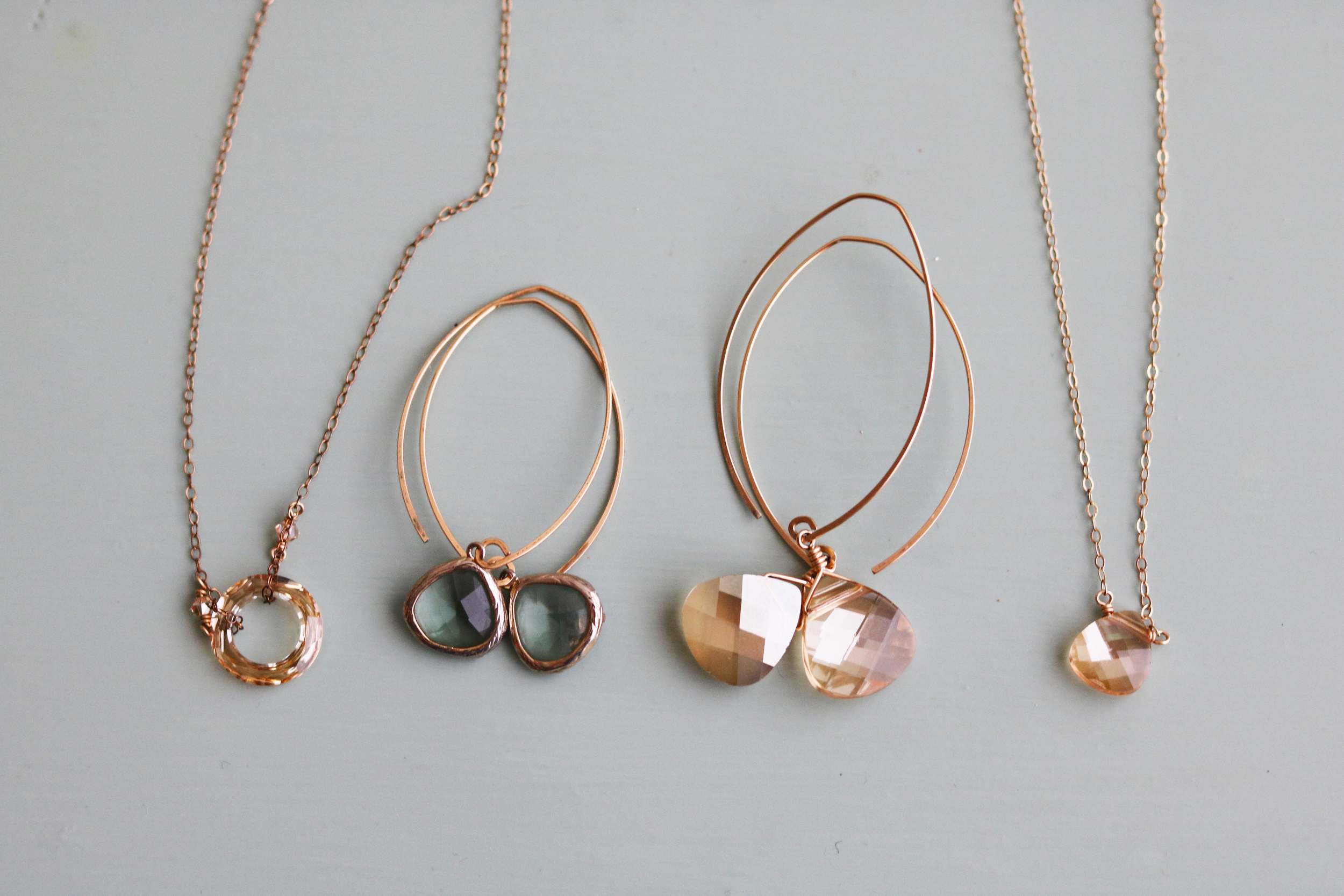 My assortment of  Noon  pieces. Champagne is my favorite color to wear because it goes with everything!