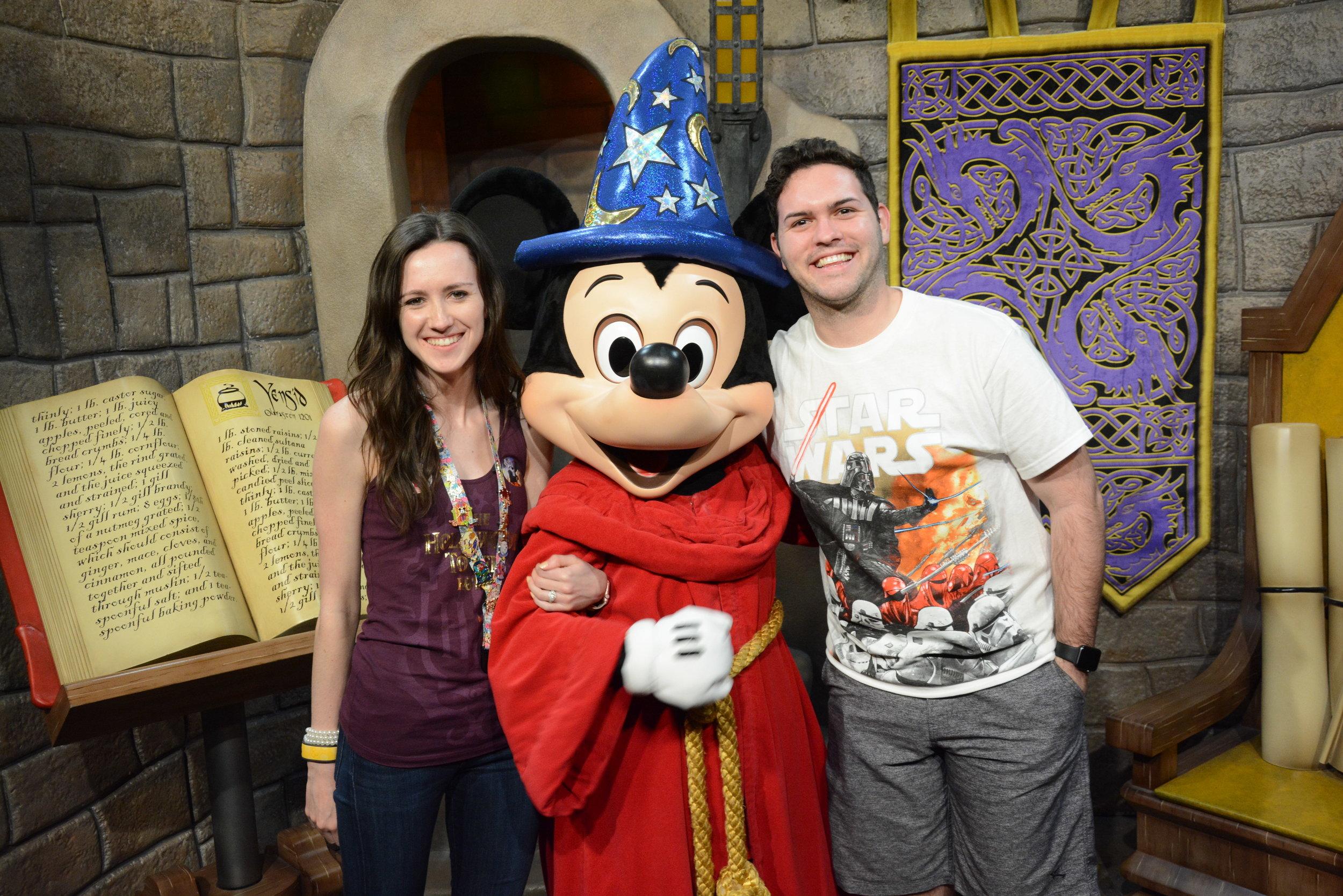 With Sorcerer Mickey at Walt Disney World, January 2017