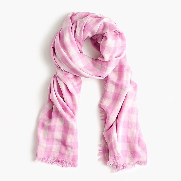 A soft scarf - Pair this with an easy, white cotton dress to add a fun pop of color and a print for the season.