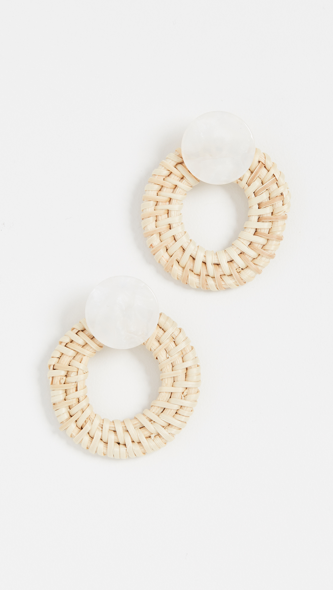 Lucite & Wood Hoops - These earrings are the perfect summer accessory to any look. Pair them with an easy dress or your favorite pair of cut-off shorts for an instant resort-ready vibe!