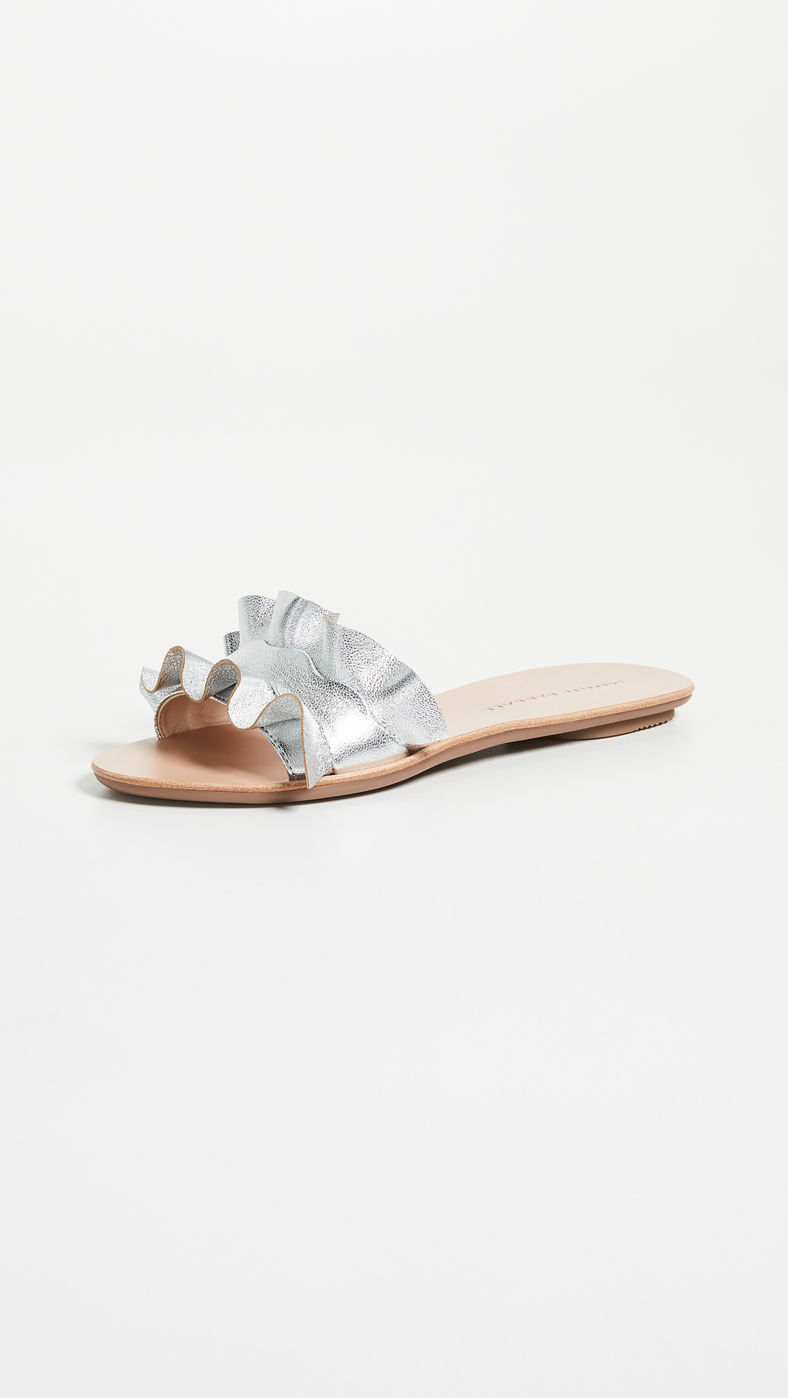 Metallic Slides - There's something about metallic accessories in the summertime that I just love! The ruffle feminine detail on these slides is so sweet, and they're a great neutral shoe that goes with everything.