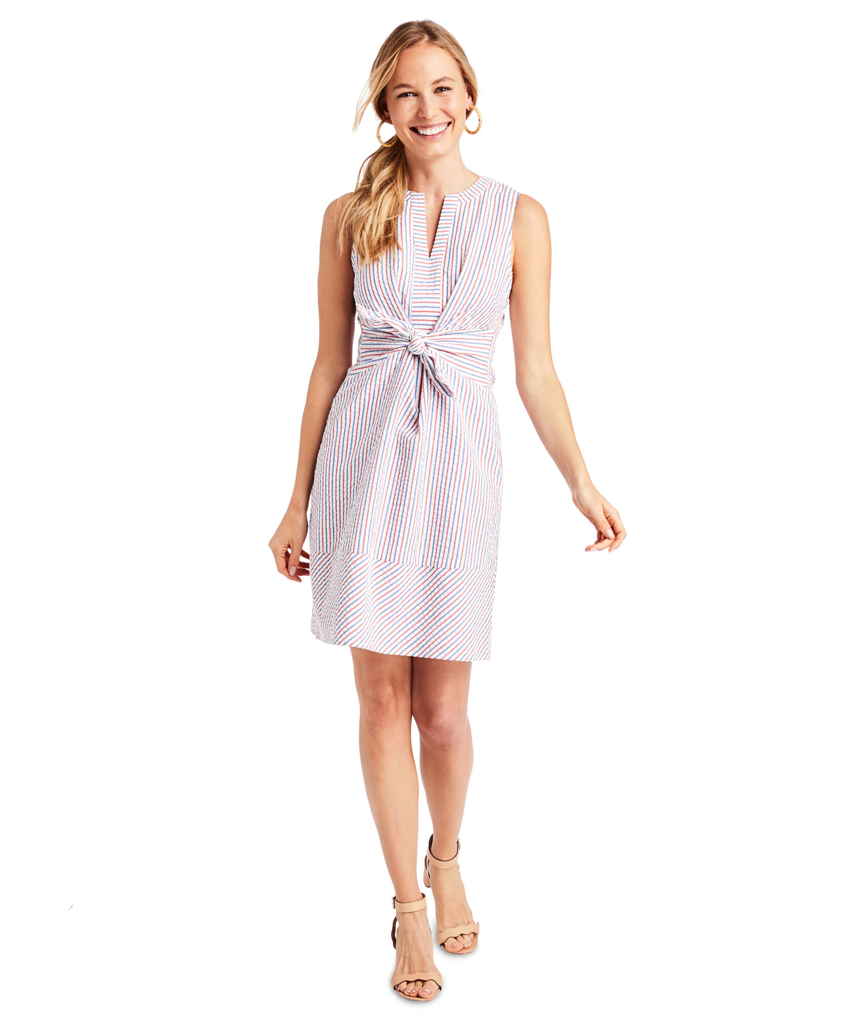 A tie-front dress -