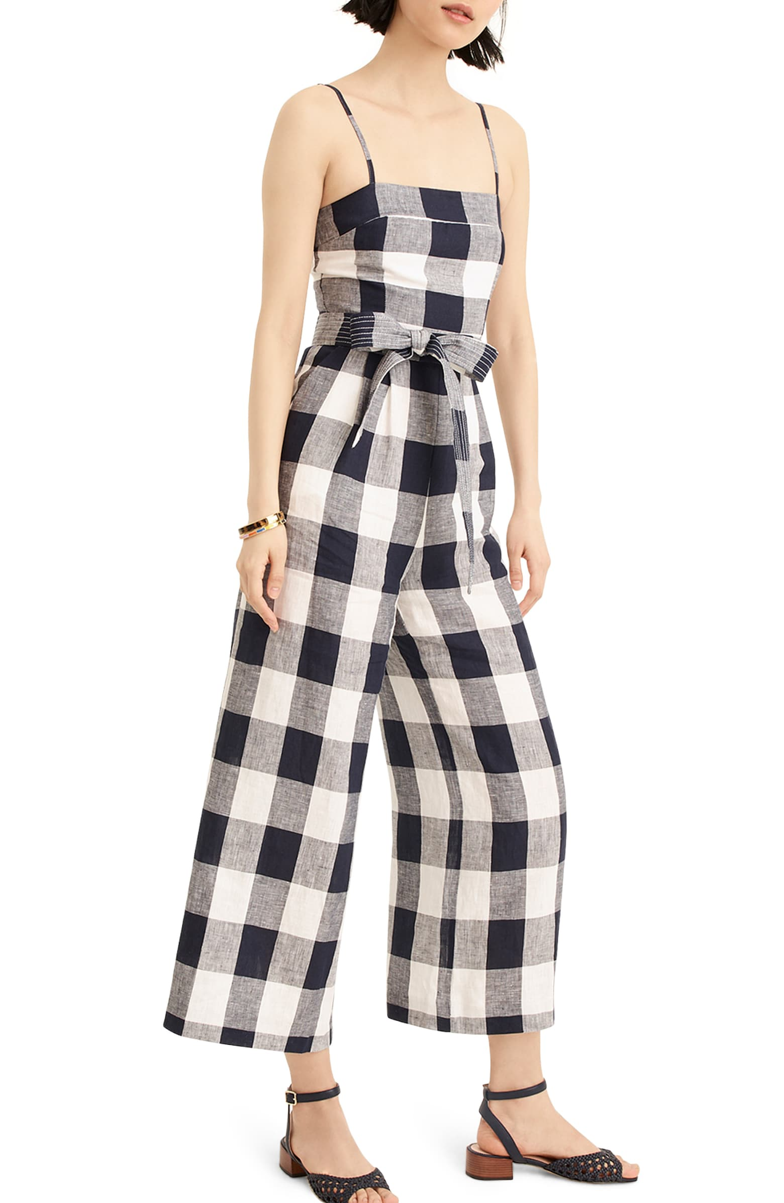 A gingham jumpsuit -