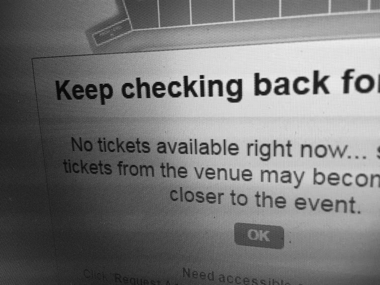 An all-too-common Ticketmaster .  ca  sight  for seekers of Tragically Hip tour tickets this summer.