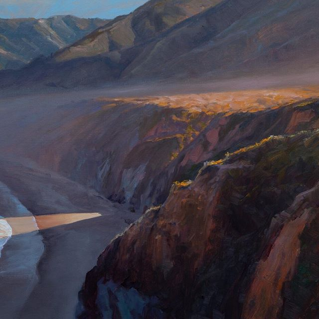 Morning at Plasket Creek, painting of #BigSur