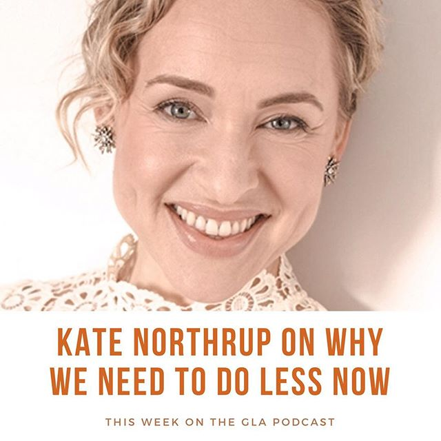 "Just when you thought working your ass off til your adrenals are thrashed, your relationships are a mess and you realize you're getting nowhere fast, @katenorthrup is here to tell us HEY YOU CAN ACCOMPLISH MORE BY DOING LESS! Alas, I paraphrase. Kate's been my go to money coach/mentor for a few years, so imagine my giddy delight when we recorded ep. 21 of the #glapodcast !!! Her newest book called ""Do Less: A Revolutionary Approach to Time and Energy Management for Busy Moms"" is essentially a tome to her own discoveries about #productivity and how our notion that doing more equals more is a massive fail. It doesn't. We get to the heart of time management and her unique very feminine approach - motherhood was the lift shift that turned this bulb on for her - to getting stuff done without over doing. Can't wait for you to listen. Kate is all that and then some. Love love love. Oh. And her book soared to the top of best sellers in less than like five mins. (If you chunk time with her method). 👏🏼👏🏼👏🏼👏🏼 #katenorthrup #moneyalovestory #doless #womenentrepreneurs#motherhood #timemanagement #productivity"