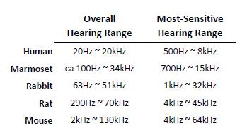 Mammal Hearing Range, Vibrasure