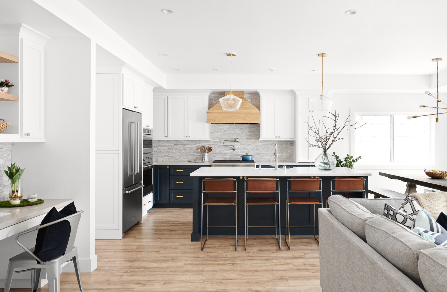 KBG Design open layout kitchen and family room