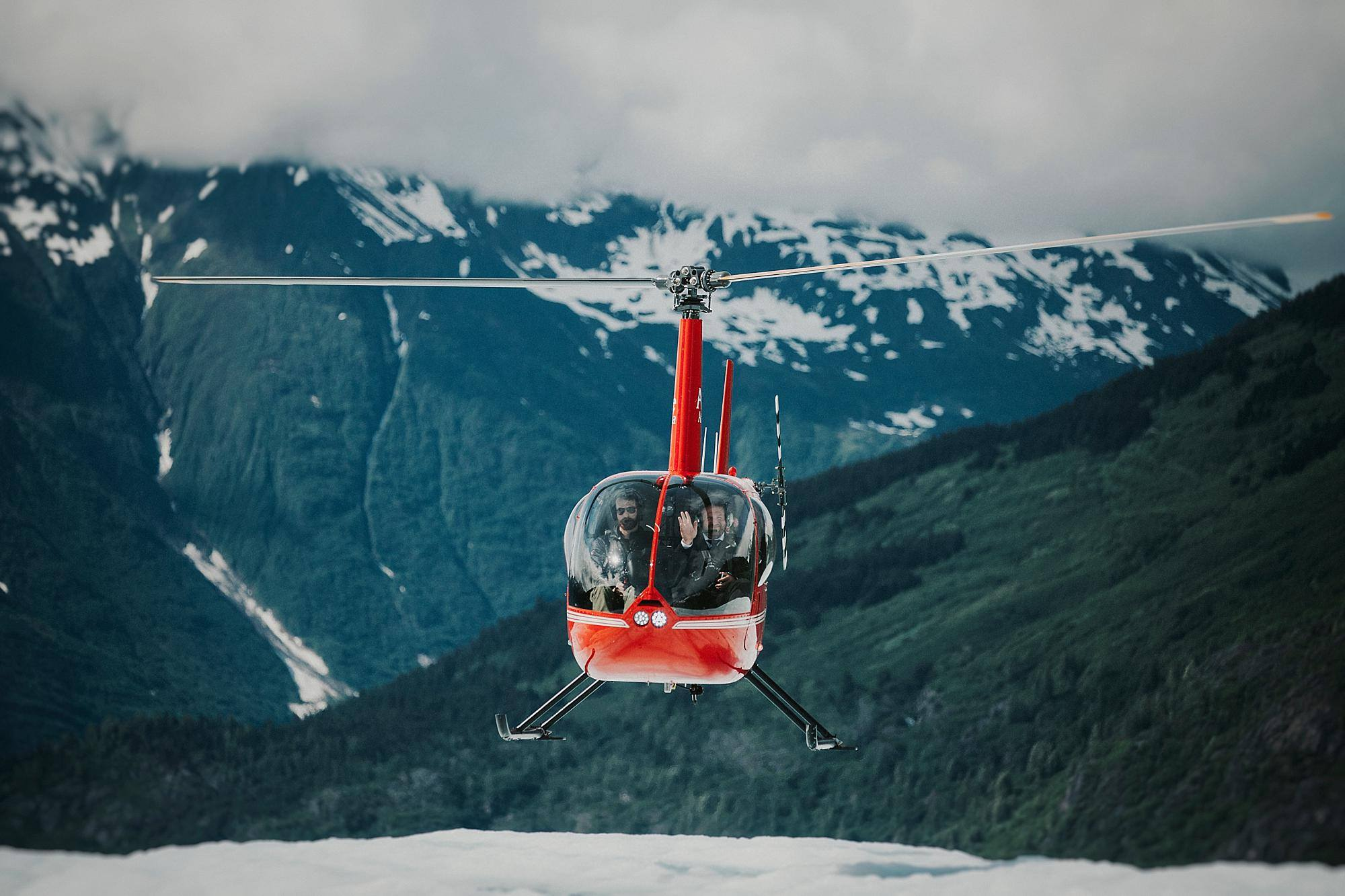 Helicopter Glacier Wedding - Alaska Destination Weddings