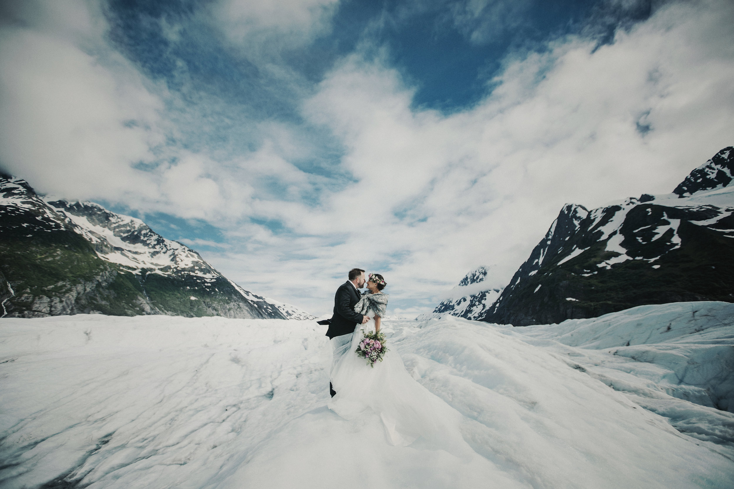 Elope to Alaska - Alaska Destination Weddings Glacier Elopement Package