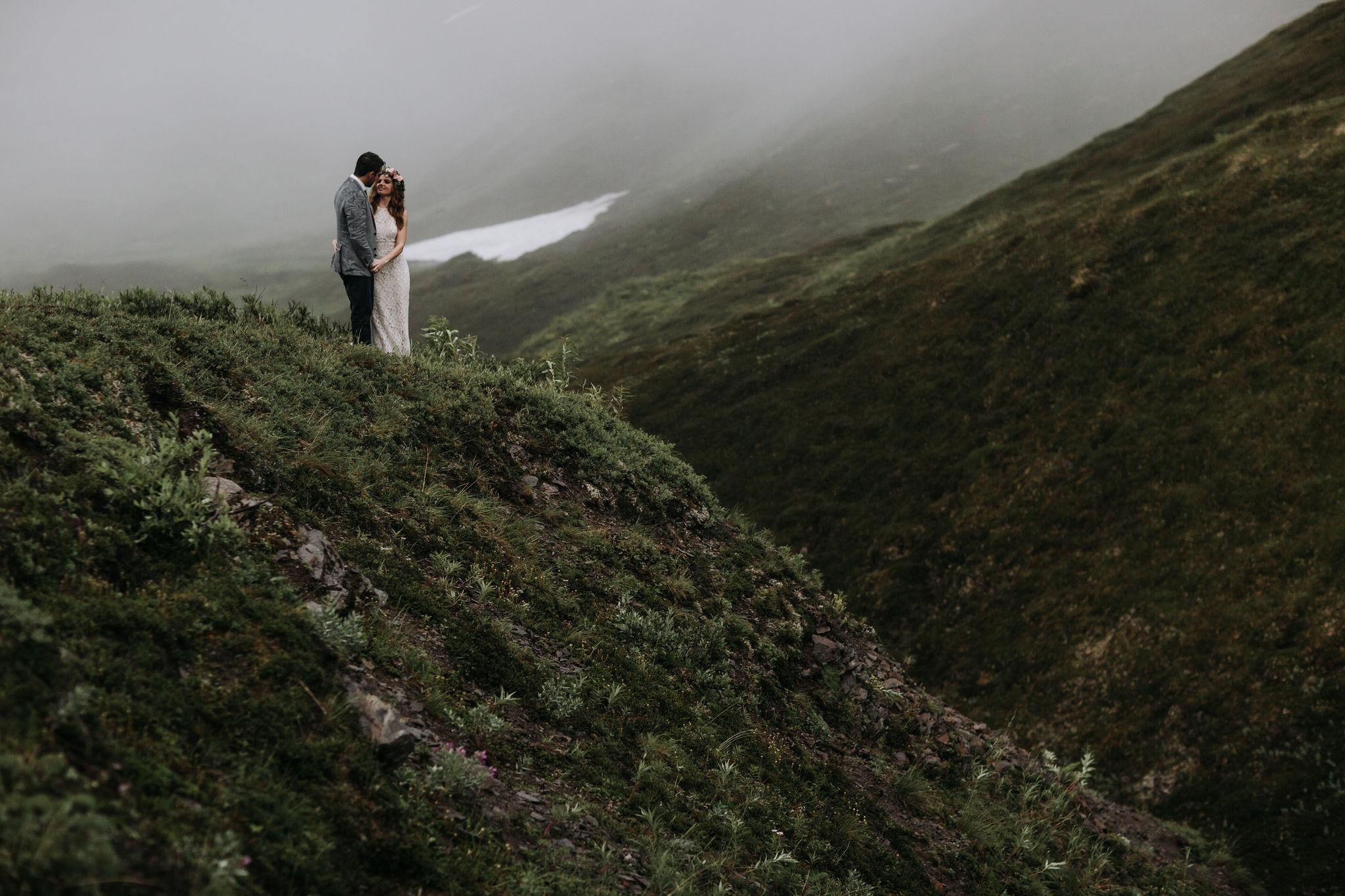 Alaska Destination Weddings - Alaska Mountain Elopement