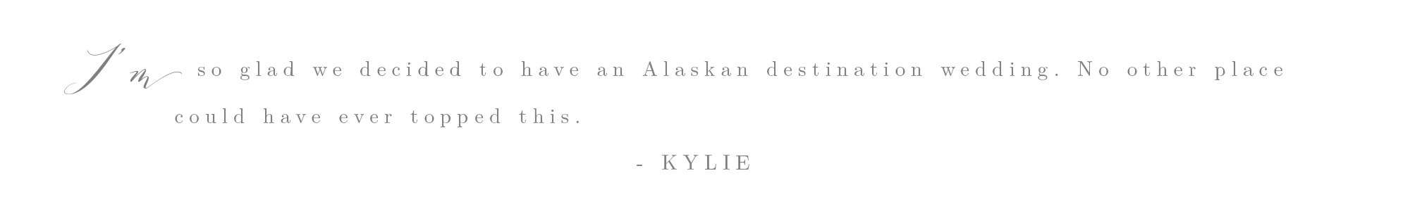Alaska Wedding - Alaska Elopement