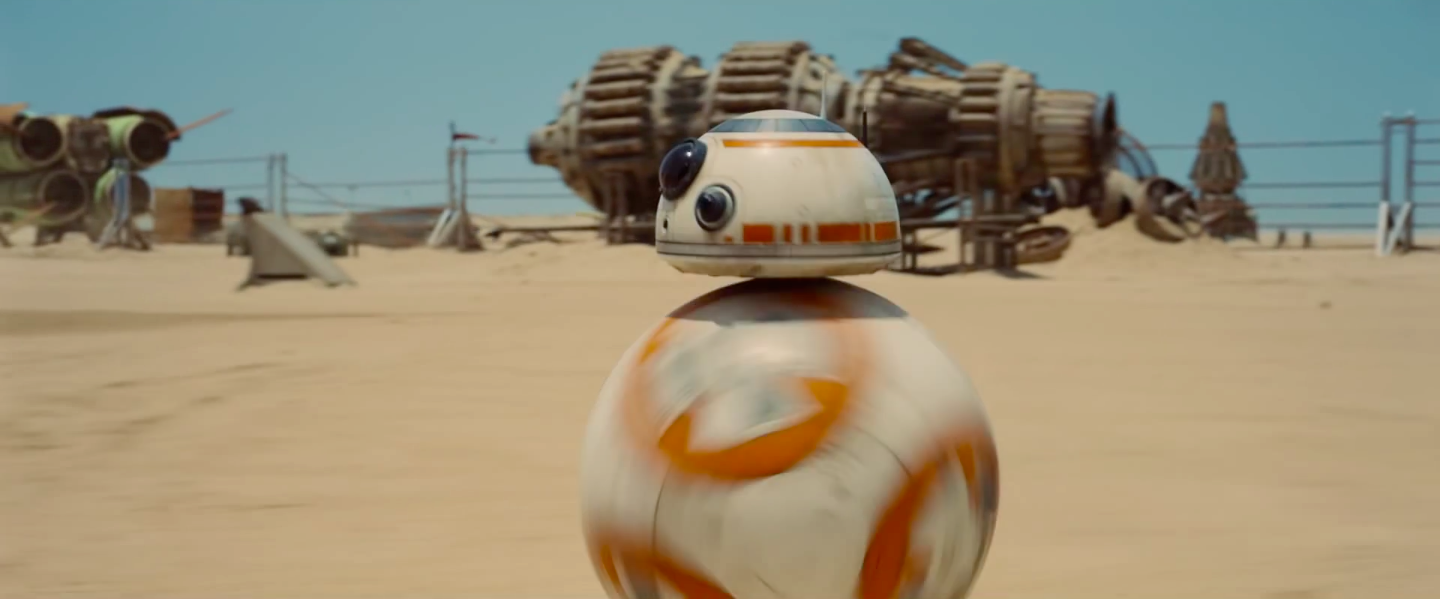 BB-8 is the emotional center of the movie, obviously.