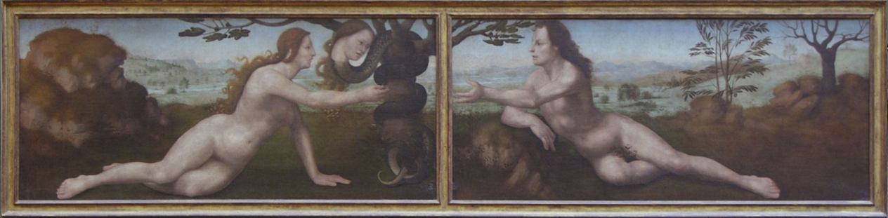 Adam  and  Eve , Giuliano di Piero di Simone Bugiardini