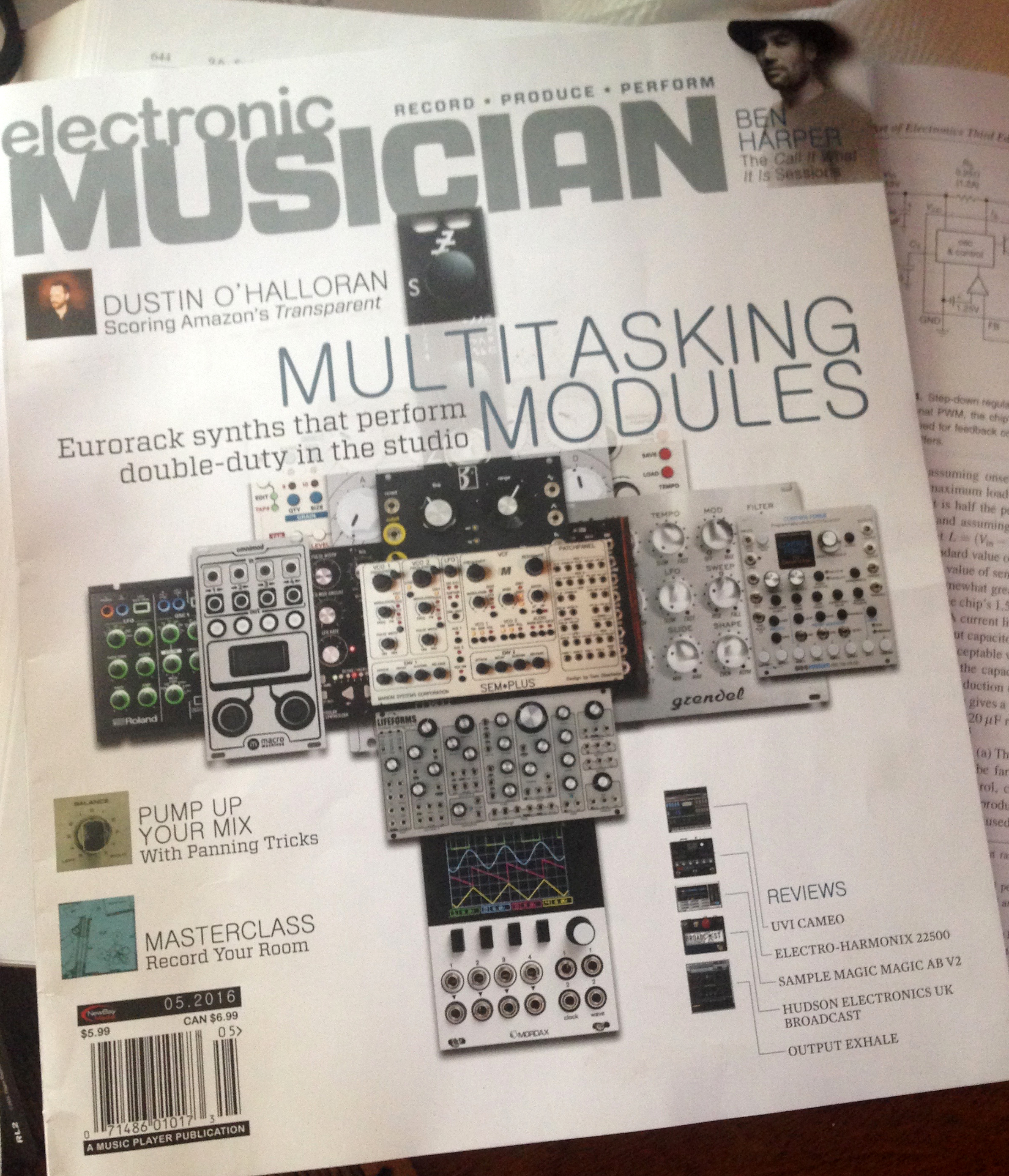Electronic Musician Magazine Feature — Mordax Systems