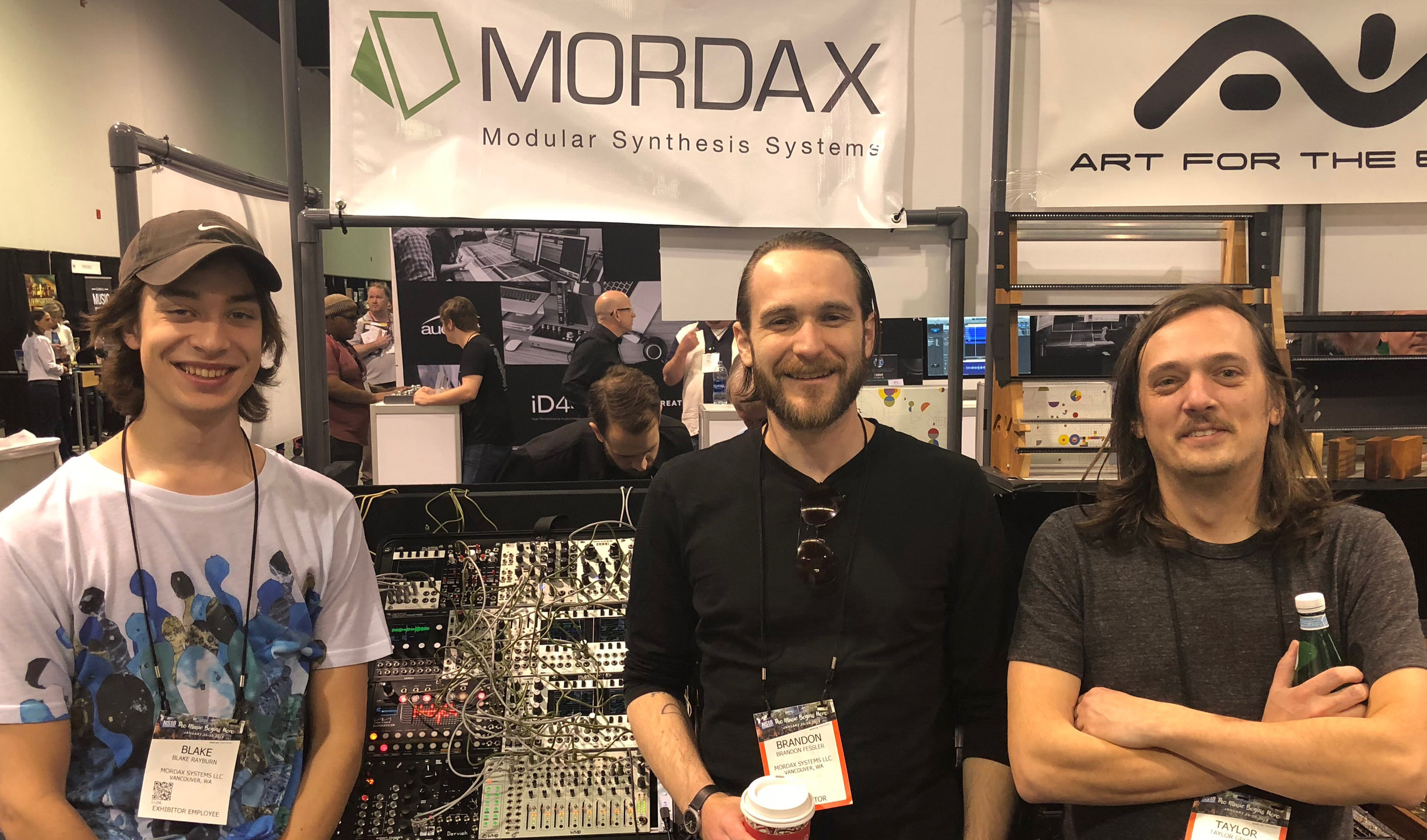 The Mordax booth babes: Blake, Brandon, and Taylor
