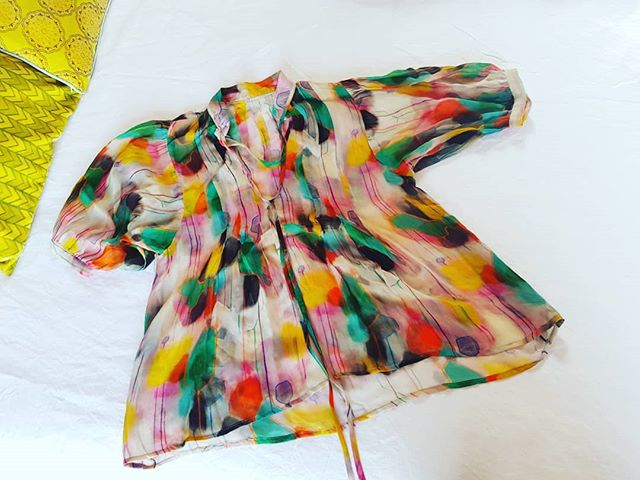 Doing some spring time planning  goodness ........ladies who likes this sheer gorgette swishy loose blouse ? 'Bombay Style' . X #mightjustdoit #unique #ijustwearwhatilove #wearingart #clareodonoghueart #samplecity #decisionsdecisions #ilovedeciding #loveisallyouneed
