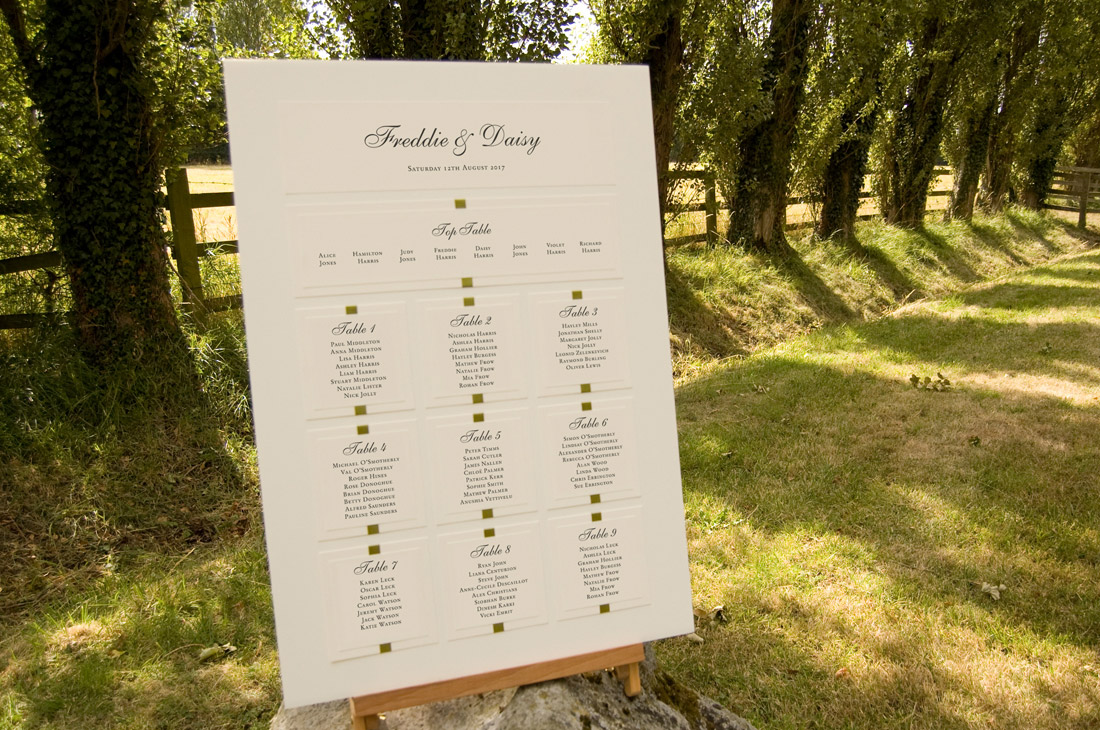 Tate Style Table Plan For A Wedding