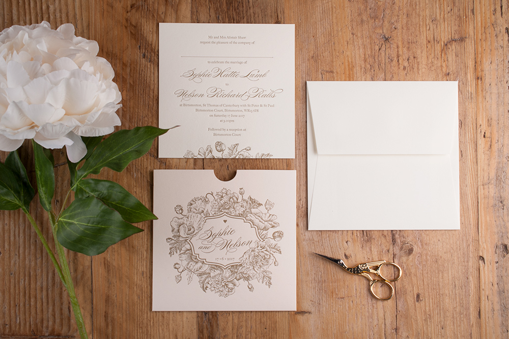 All The Details…. - Click to view the Blossom Invitation Brochure, view the personalisation options, co-ordinating accessories and full specification.