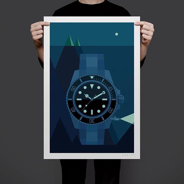 #submariner #watchart #watchposter #rolex
