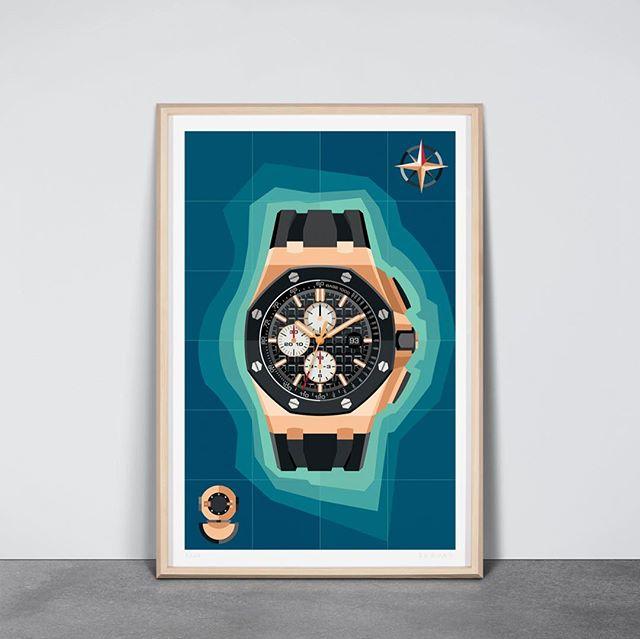 Offshore #watchart #wallwatch #audemarspiguet #royaloak