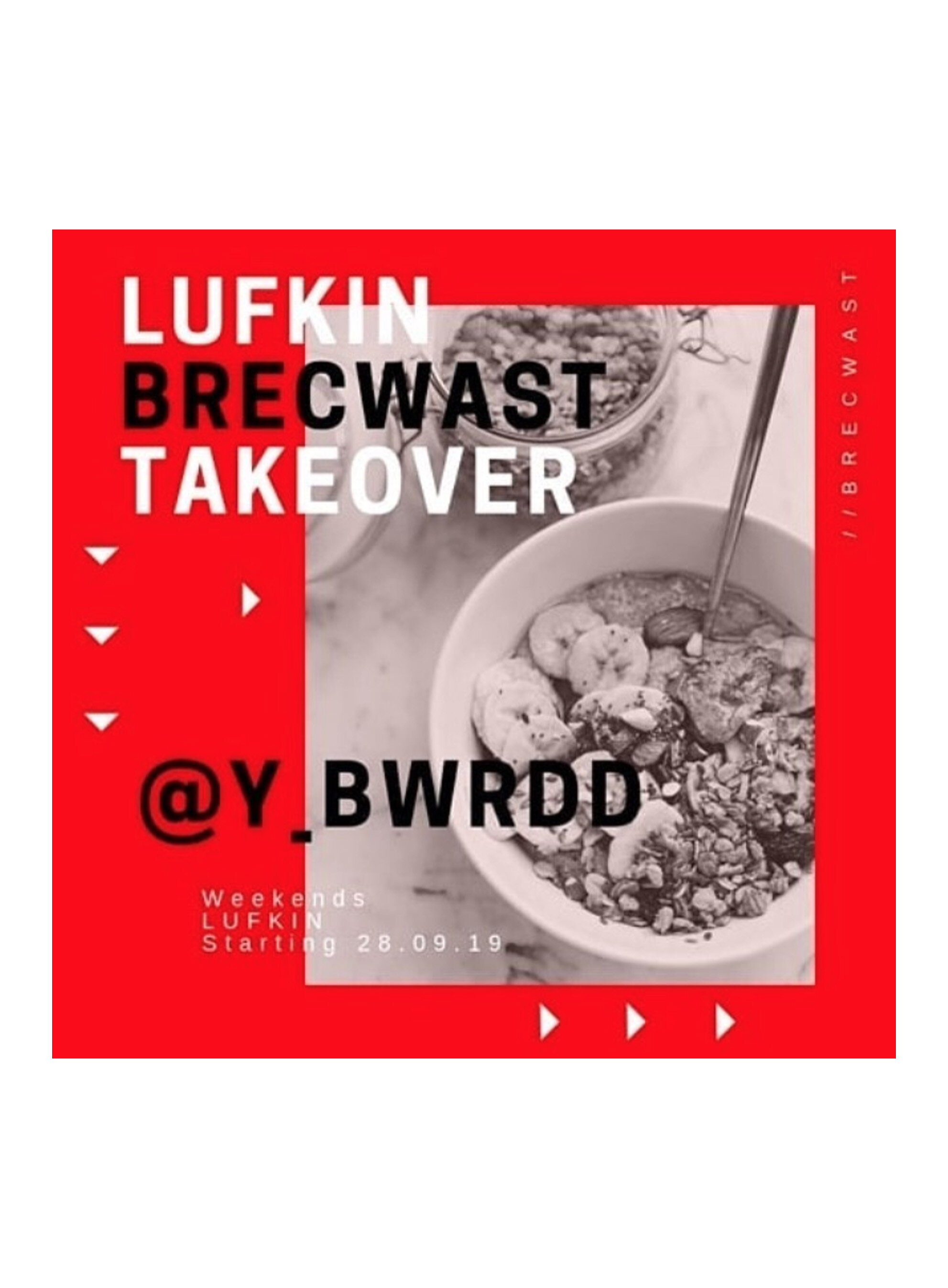 BRUNCH TAKEOVERSaturday & Sundays 28th Sept - 20th Oct - Y Bwrdd