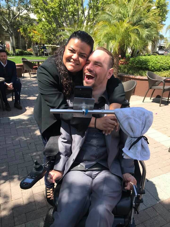 cody and caregiver cecii are the best team in the world of differently able-bodied folks!
