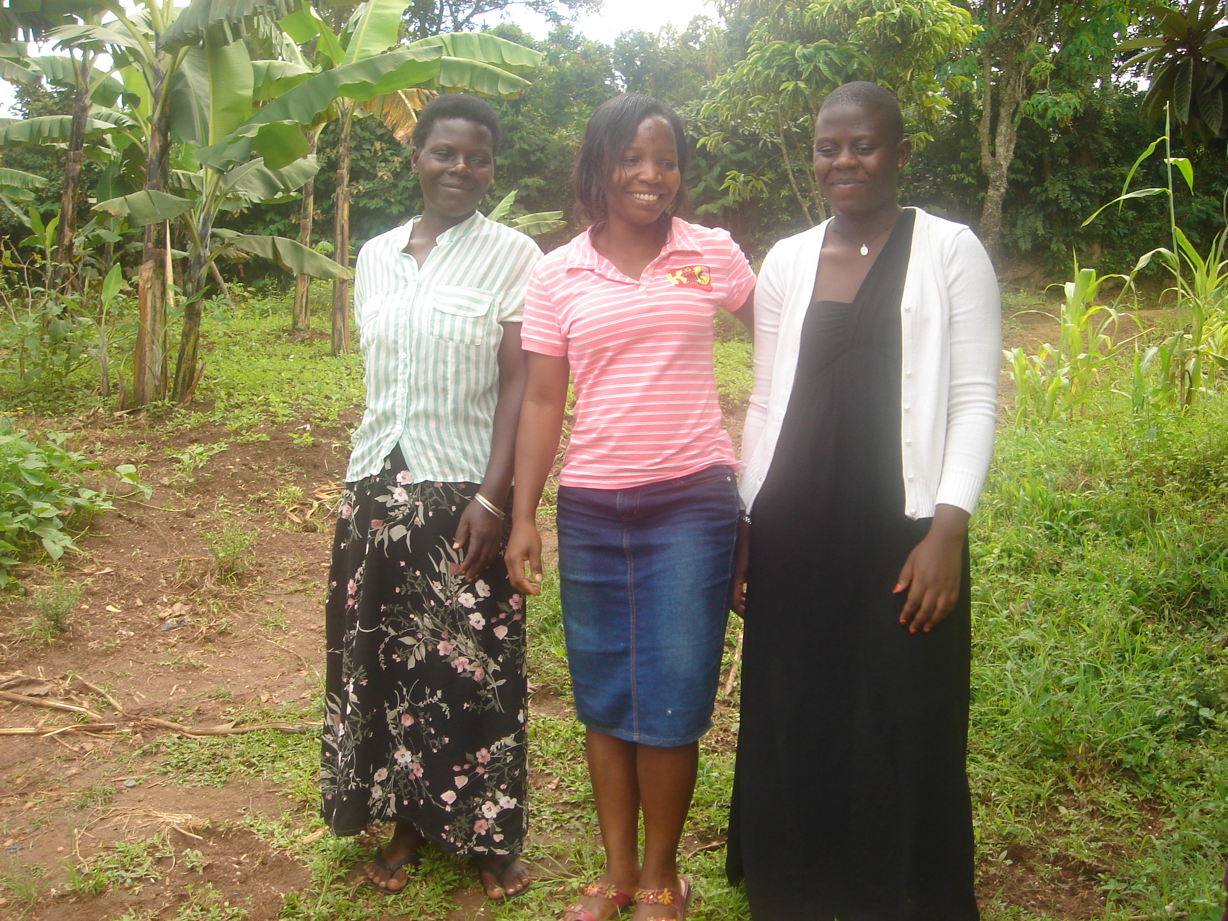 Amy with her mother and our Ewafe social worker Beatrice