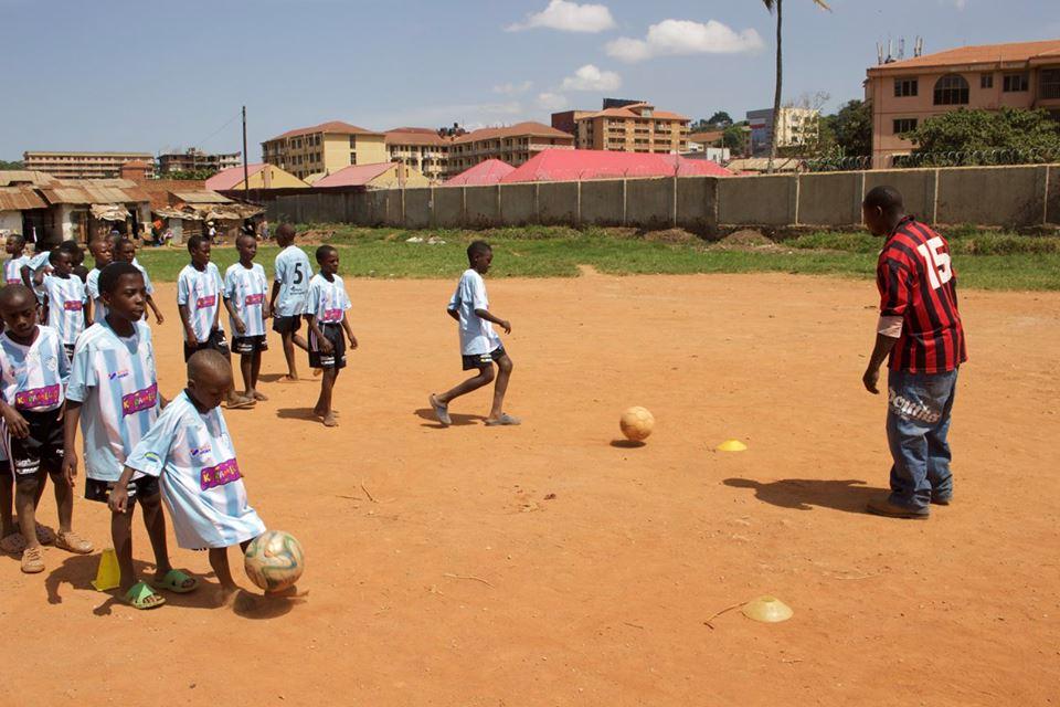 Football coaching and carpentry training sesssions in Katanga slum