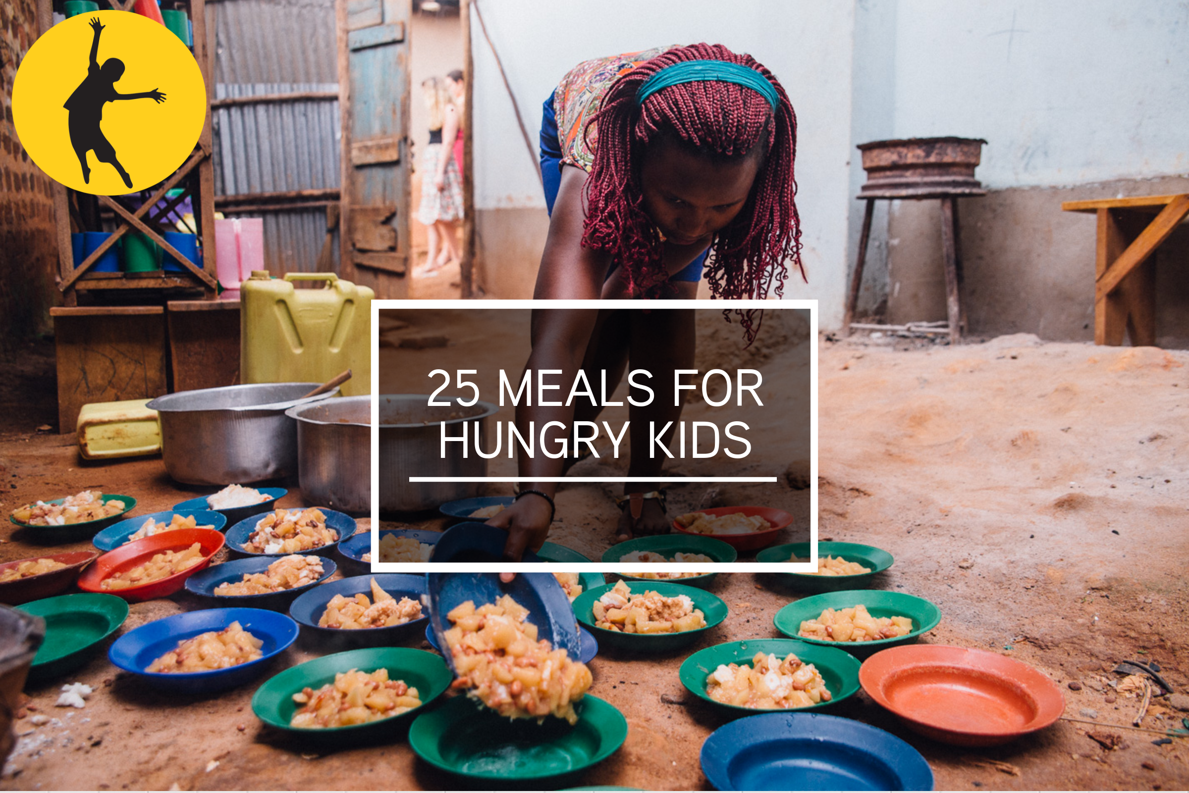 *25 meals for hungry children*   Why not help a hungry child? At least 9 million Ugandans are food insecure and 5.8 million are malnourished. Providing a hot meal for a child helps make a huge difference in overcoming these statistics.