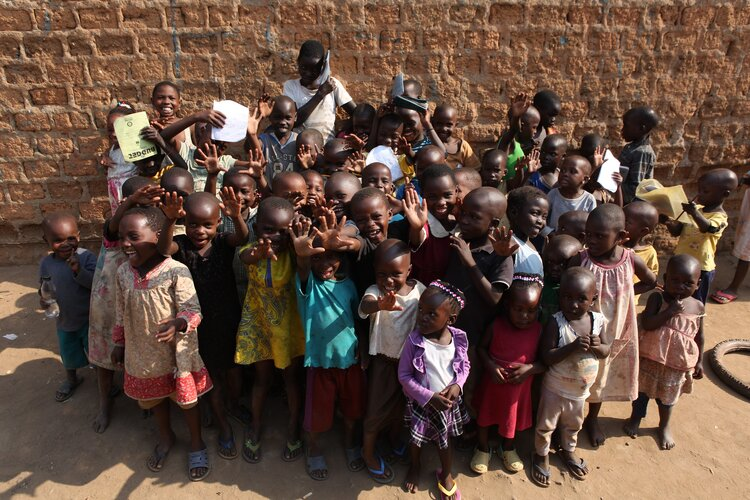 Children at our education project in Katanga.