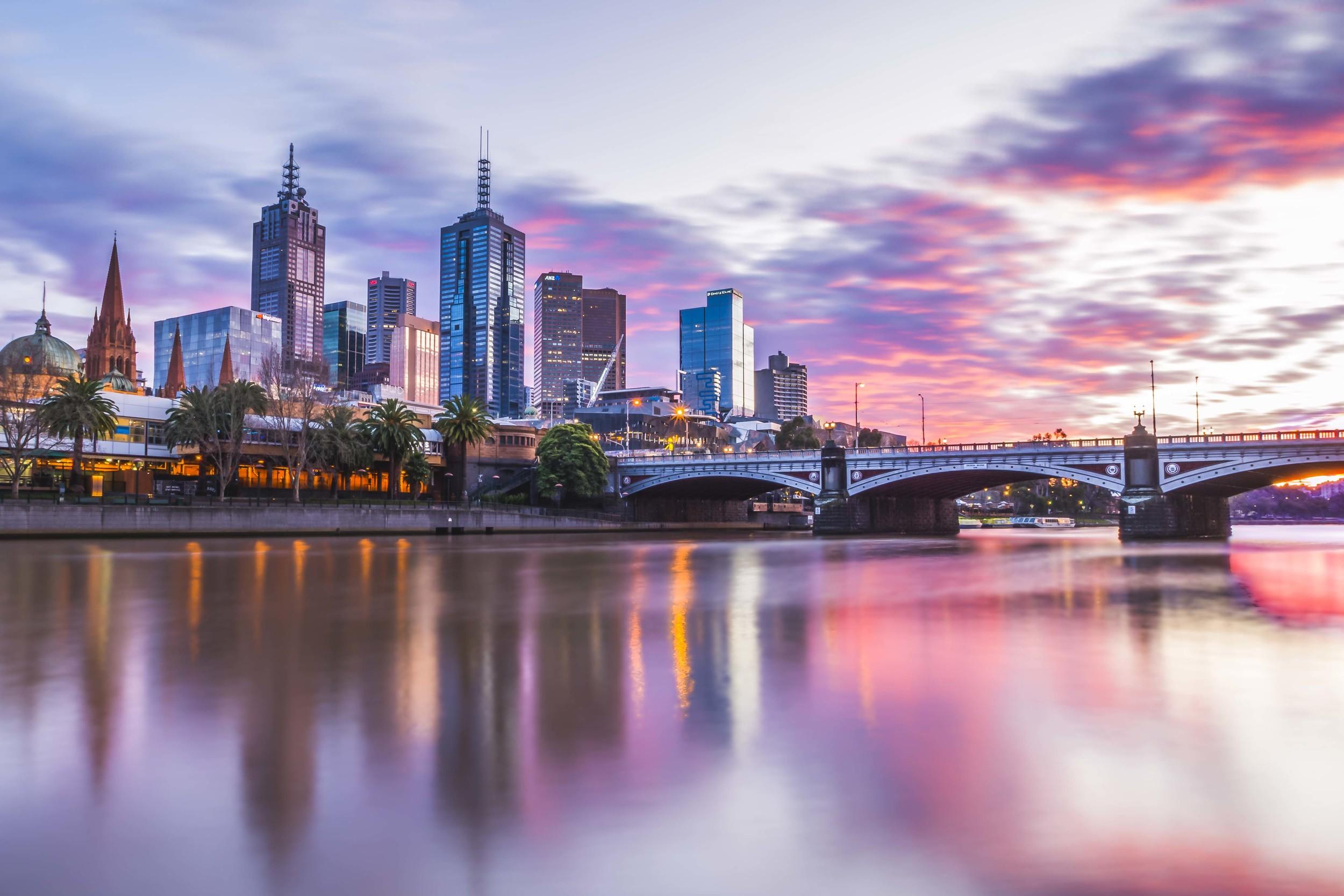 Sunrise Over The Yarra River