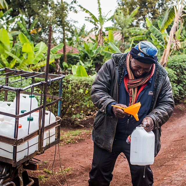 """""""Choose a job you love, and you will never have to work a day in your life"""" - Confucius . . We think George has got it figured out. He loves being a dairy trader and is excited about the improvement that our business management mobile app has brought to his business. With less time spent on manual, repetitive, error prone calculations from his smallholder milk collections, he can spend more time on activities that matter, like expanding his reach to new markets in the city. . . . #kenya #agriculture #farmer #dairyfarming #cows #milk #smallholder #postthepeople #peopleplanetprofit #discoverportrait #photographysouls #humanity_shots_ #great_captures_people #people_infinity #ventures #socialenterprise #socialgood #entrepreneurship #impact #artofvisuals #ourplanetdaily #bevisuallyinspired #collectivelycreate #exlusive_shot #thecreatorclass #visualsoflife #igkenya #vscokenya #fantastic_shotz #vscocollective"""