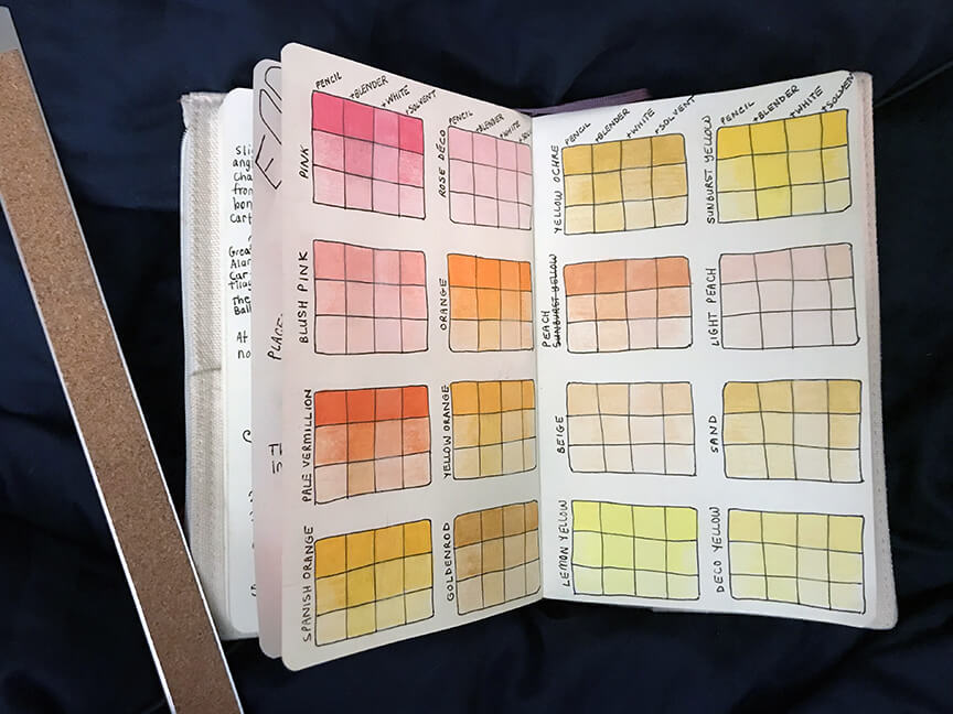 ColoredPencilColorStudies