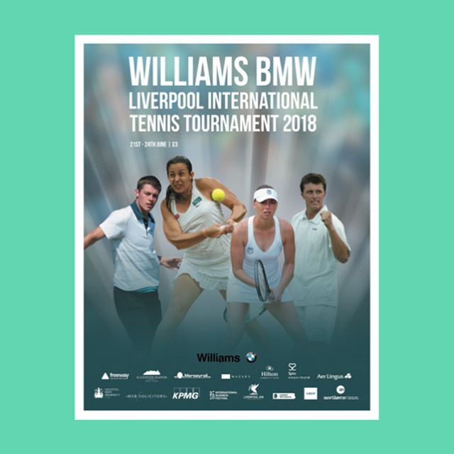 The official programme for the Williams BMW Liverpool International Tennis Tournament 2018  #tennis #programme #design #designagency