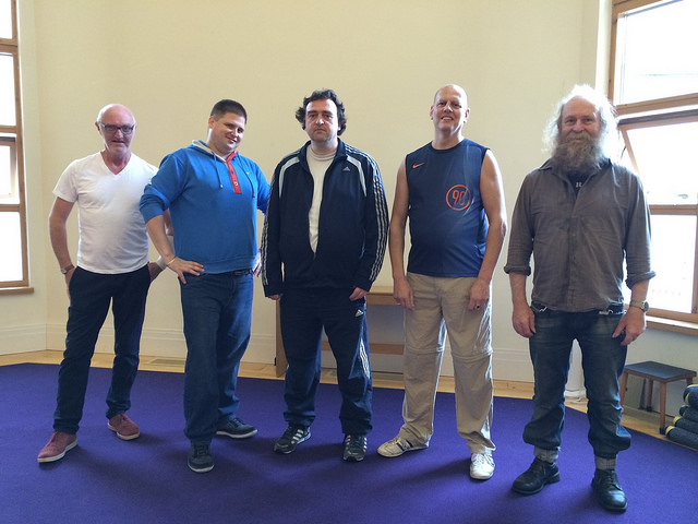 Members of the Company, including Colin, just before a Wy-Fi workshop