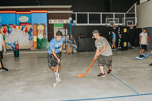 Always a good time at The Point.  For those in 6th-12th grade, come join us every Friday from 6-9 p.m. for games, movies, and much more! • • • • • • #thepoint #thetribe #youthgroup #youthministry #jesus #god #floorhockey #friday #church