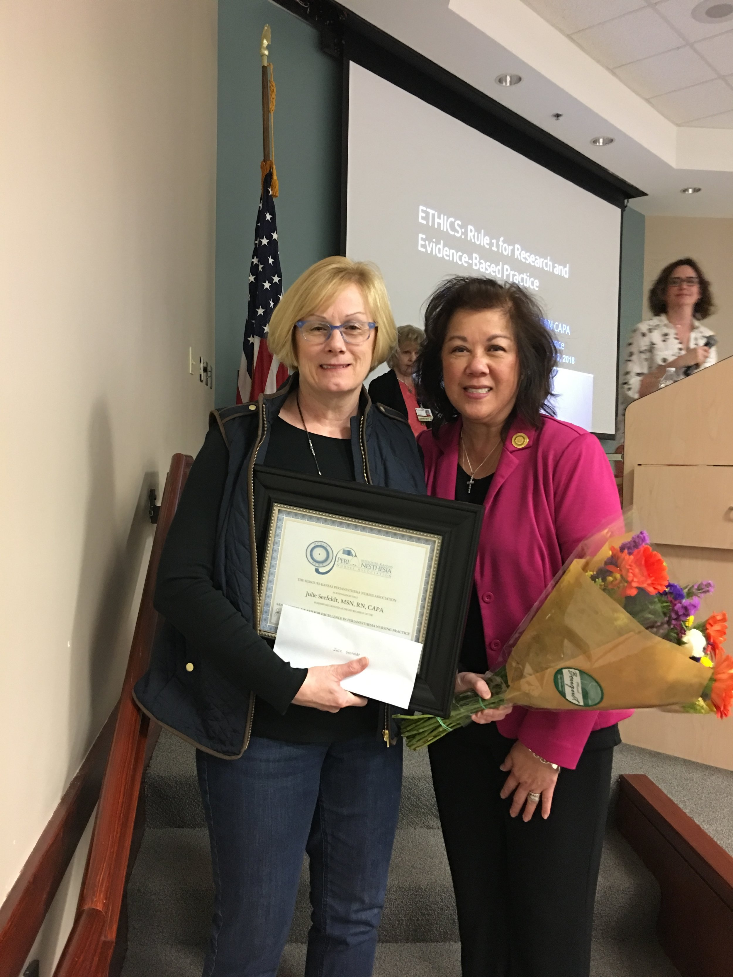 Julie Seefeldt, MSN, CAPA  2017 Excellence in Clinical Practice Award