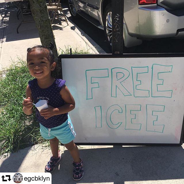#repost @egcbklyn ・・・ Selah wants you to come get free icees in honor of tomorrow's Family Fun Event! (Click through to @egcbklyn's profile for the deets)