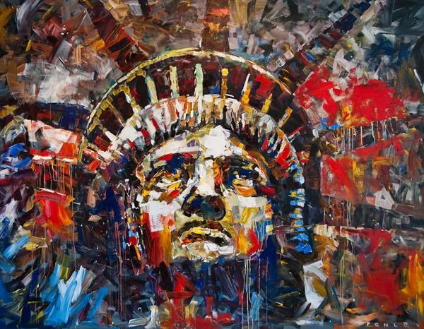 Steve Penley  Liberty  acrylic on canvas  111 x 87 inches