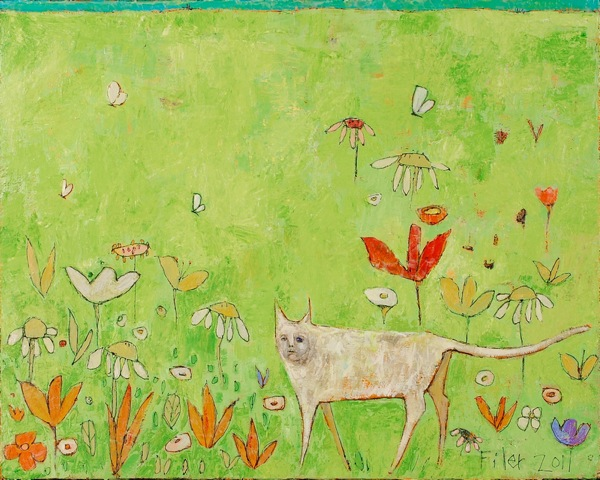 Jane Filer Opening The Meadow acrylic on canvas 32 x 26 inches 3200.