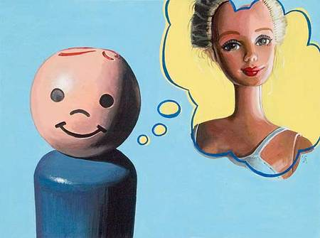 Jonathan Fenske  Young Love   acrylic on panel 24 x 18 inches (SOLD)