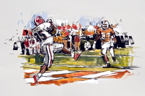 Steve Penley  Verron Haynes, from David Greene 2001 –  Georgia vs. Tennessee  acrylic on canvas 