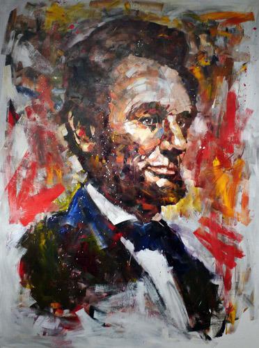 Steve Penley   Lincoln 1   acrylic on canvas 72 x 96 inches