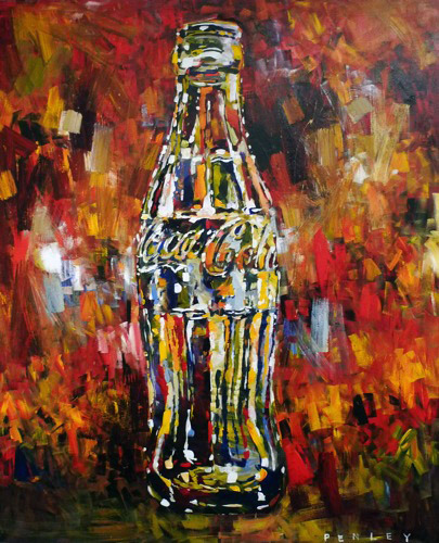 Steve Penley   Coke 1   acrylic on canvas  60 x 72 inches