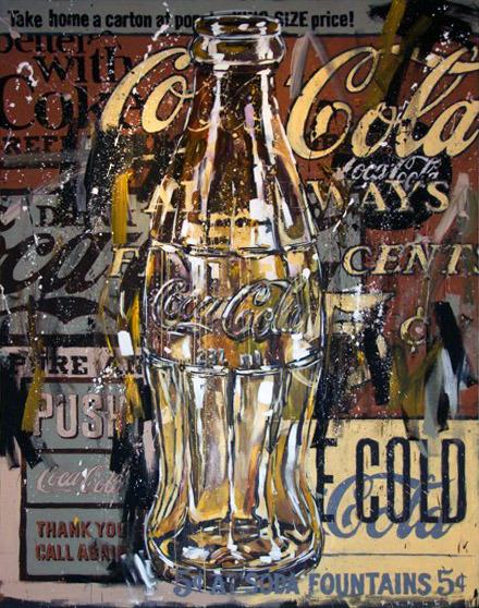 Steve Penley   Coke 2   acrylic on canvas  96 x 120 inches