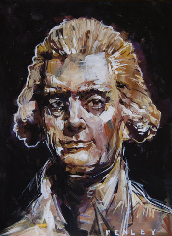 Steve Penley Jefferson giclee print & acrylic on paper    22 x 30 inches unframed | edition of 50