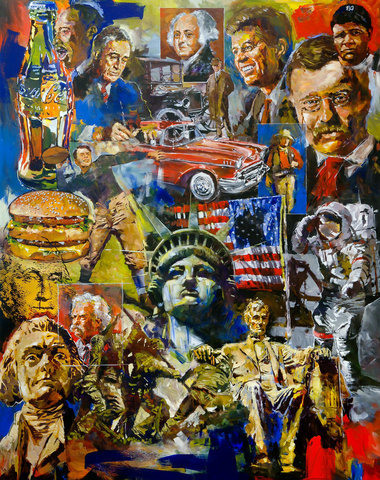 Steve Penley America giclee print & acrylic on paper   24 x 32 inches unframed | edition of 125