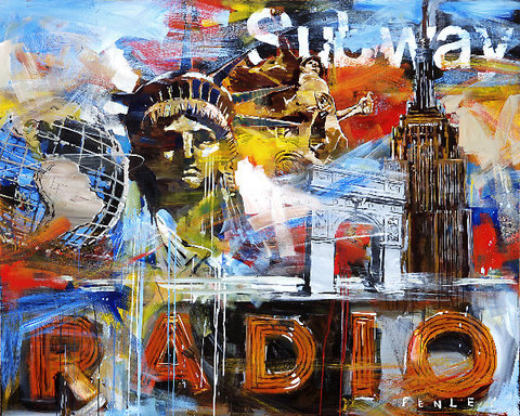 Steve Penley Radio giclee print & acrylic on paper    16 x 20 inches unframed | edition of 125 22 x 28 inches unframed | edition of 50