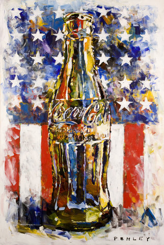 Steve Penley Coke Bottle giclee print & acrylic on paper   16 x 24 inches unframed | edition of 125  22 x 33 inches unframed | edition of 50